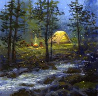 Camping with Fireflies - Product Image